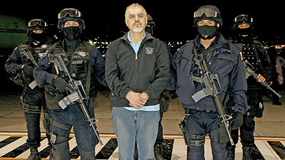 Drug Lord Eduardo Arellano Felix in Mexican Police Custody