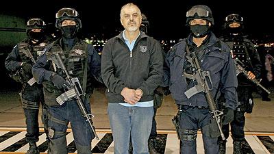 Drug Lord Eduardo Arellano Felix in Mexican Police Custody
