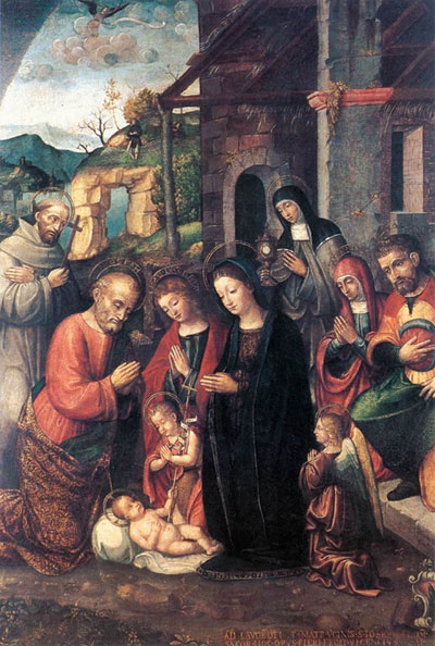 """Nativity"" Bernardino Fasolo - 1526"