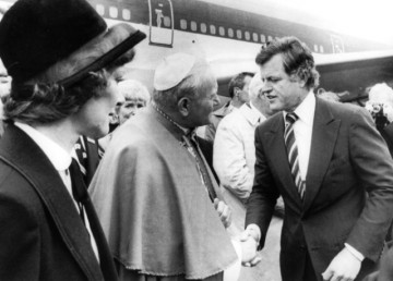 Ted Kennedy and Pope John Paul II