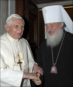 Pope Benedict and Patriarch Kirill