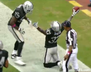Chris Johnson flagged for praying or celebrating too much