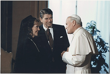reagan pope john paul ii