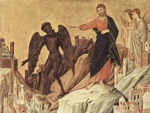 Christ expelling the devil