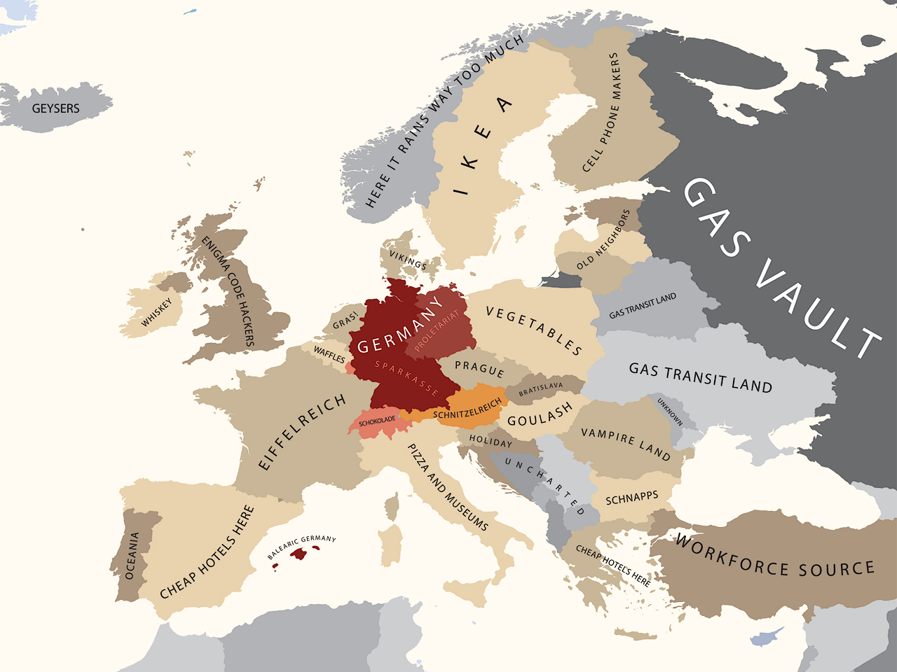 A Map Of How Americans View Europe The American Catholic - Germany map view