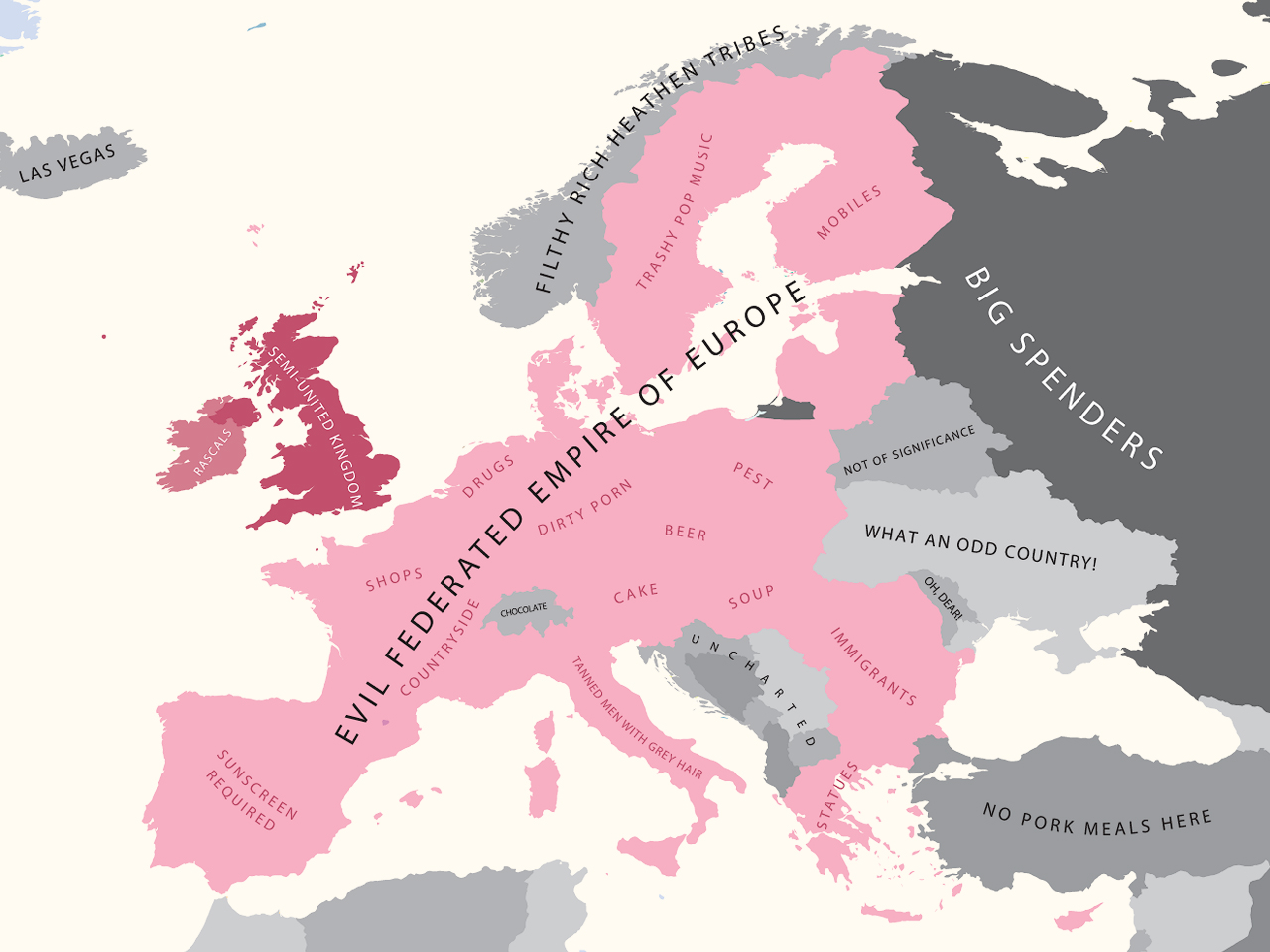 A map of how americans view europe the american catholic to gumiabroncs Gallery