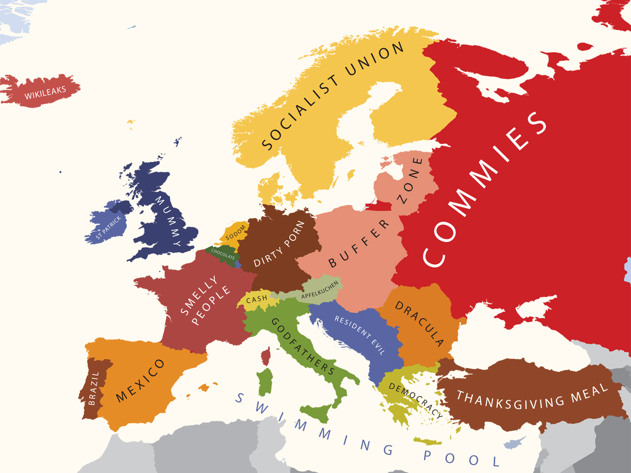 A Map Of How Americans View Europe | The American Catholic
